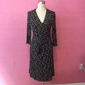 Gap Maternity Jersey knit floral semi wrap dress